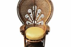 Réfection d'un fauteuil en rotin