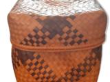 Panier en osier orange/marron