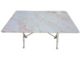 Table bistrot fonte/marbre