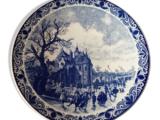 Plat porcelaine Delft HOLLAND