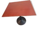 Table de bistrot bois et fonte