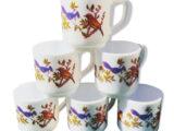 6 tasses Oiseaux