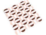 Dessous de plat rose/bordeaux